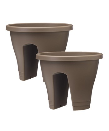 Caramel Corsica Round Planter - Set of Two