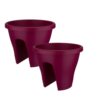 Cherry Corsica Round Planter - Set of Two