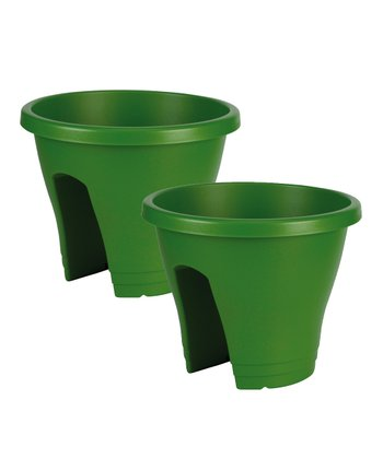 Green Corsica Round Planter - Set of Two