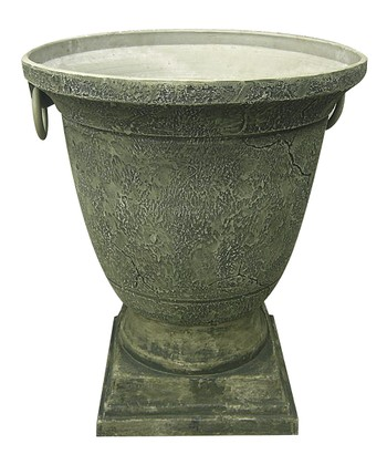 Sand & Gray Pedestal Pot