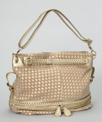 Gold & Copper Basket Weave Hobo