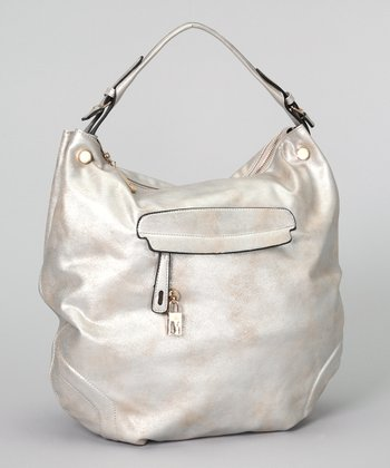 Silver Metallic Hobo