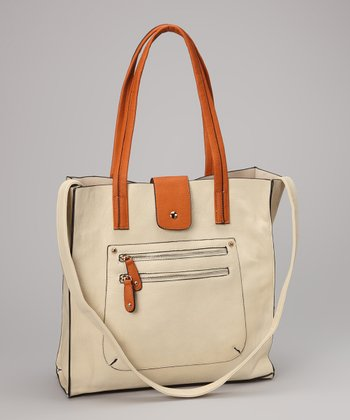 White & Orange Tote