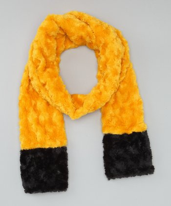 Gold & Black Scarf - Adults