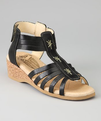 Black 410 Gladiator Sandal