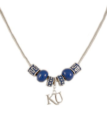 Kansas Jayhawks Beaded Necklace