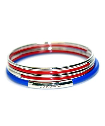 Kansas Jayhawks Bangle Set