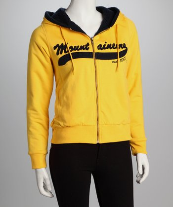 Gold West Virginia Gold Rush Sherpa Hoodie - Women