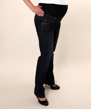 Three Seasons Maternity - Dark Wash Straight Leg Maternity Jeans