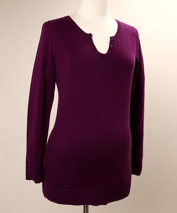 Amethyst Henley Maternity Sweater