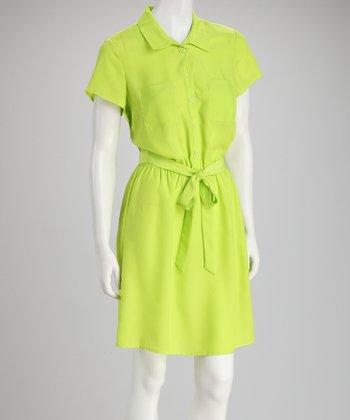 Tacera Lime Shirt Dress