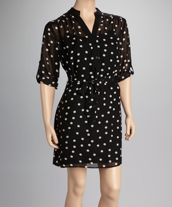 Black & White Polka Dot Dress