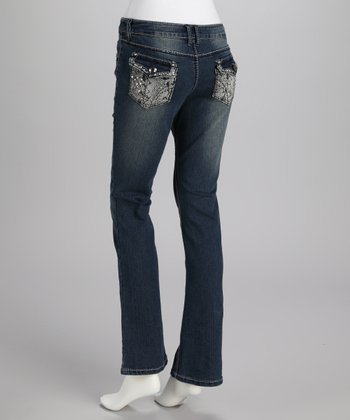 Blue Medium Wash Animal Jeans