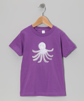 Purple Octopus Organic Tee - Toddler