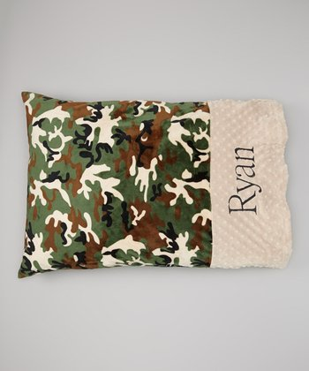 Camo & Latte Personalized Standard Pillowcase