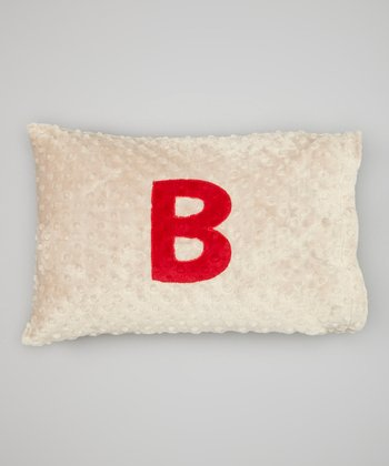 Latte Travel Initial Pillowcase