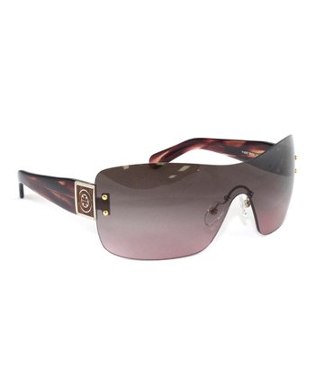 Pink Marble Shield Sunglasses