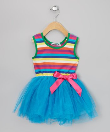 Blue Stripe Tutu Dress - Infant & Toddler