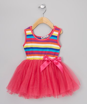 Pink Stripe Tutu Dress - Infant & Toddler
