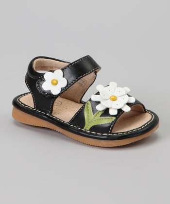 Black Sunflower Squeaker Sandal