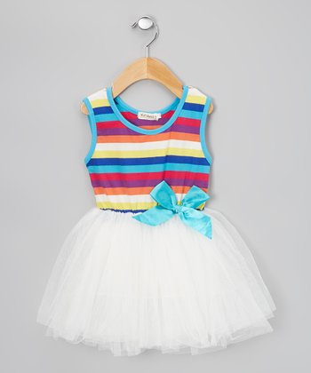 White Stripe Tutu Dress - Infant & Toddler
