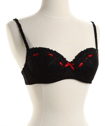 Black Cindy Padded Bra