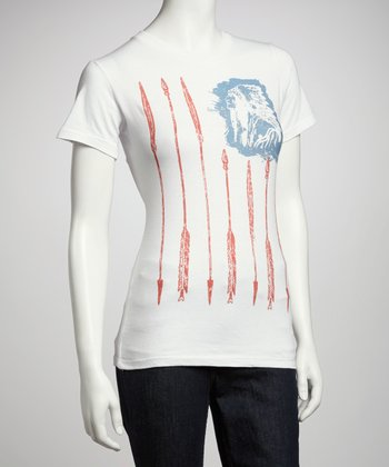 White Freedom Flag Crewneck Top - Women & Plus