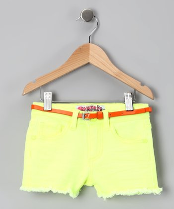 Lemon Fringe Shorts - Toddler