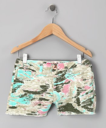 Pink & Camo Shorts - Girls