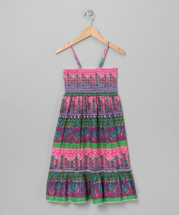 Pink & Purple Convertible Dress - Girls