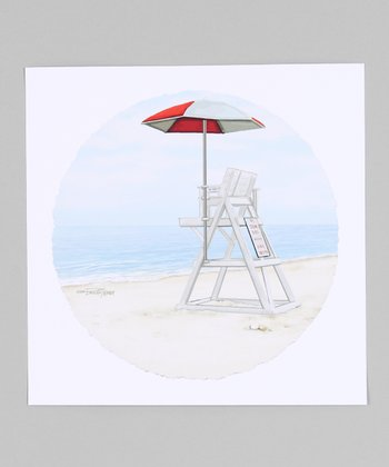 Lifeguard Chair Giclée Print