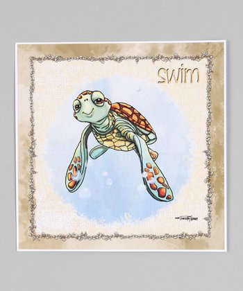 Beach Sea Turtle Giclée Print