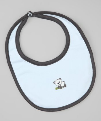 Light Blue Panda Bib