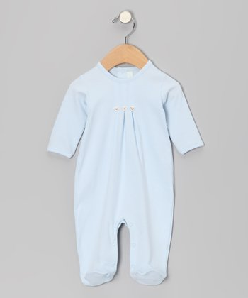 Light Blue Three Bear Footie