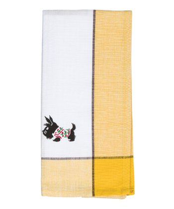 Yellow Scottie Towel - Set of Two