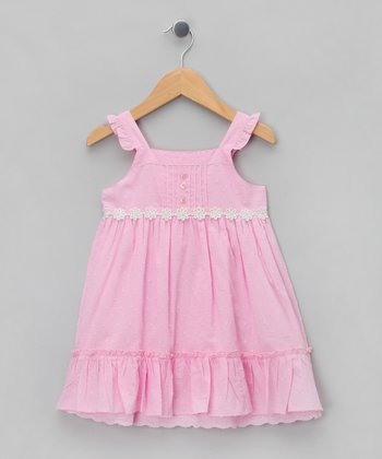 Pink Daisy Doby A-Line Dress - Infant