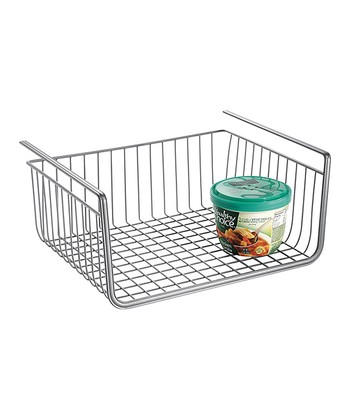 Silver York Lyra Under-Shelf Basket