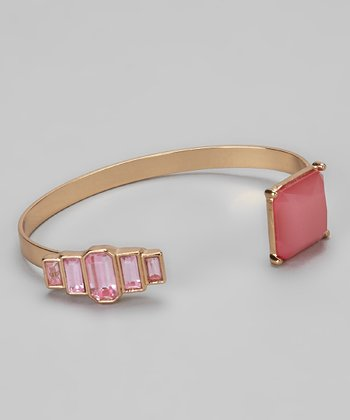 Gold & Pink Art Deco Diamonds Cuff