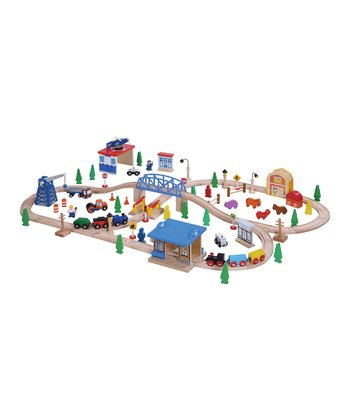 Medium Wooden Train Set