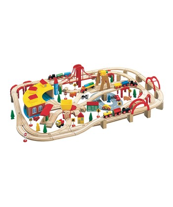 Extra-Large Wooden Train Set
