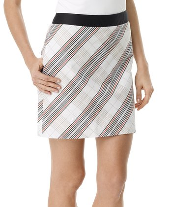 White Kensington Plaid Skort - Women