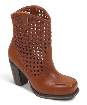 Brown Short Salad Boot