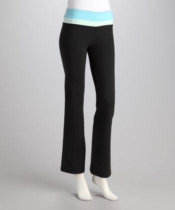 Black & Seafoam Balance Yoga Pants