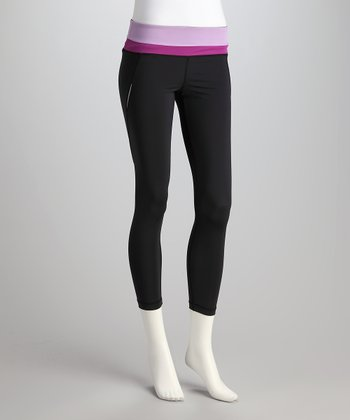 Black & Lilac Excel Performance Leggings