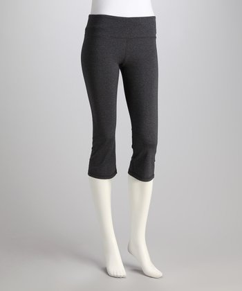 Charcoal Plank Capri Leggings