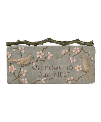 'Welcome to Our Nest' Wall Plaque