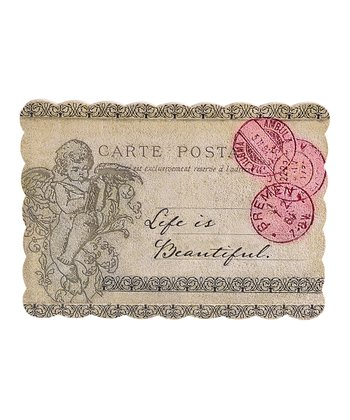 'Life is Beautiful' Cherub Postcard Wall Art