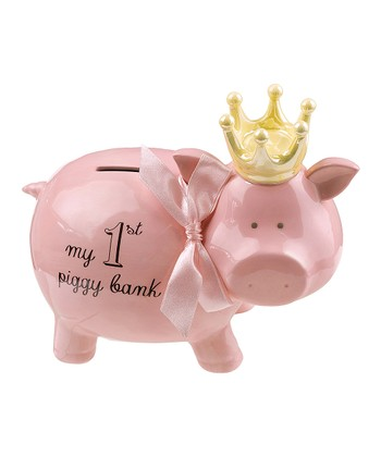 Pink Princess 'My 1st Piggy Bank' Ceramic Bank