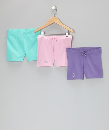 Aqua, Pink & Purple Biloxi Shorts Set - Toddler & Girls