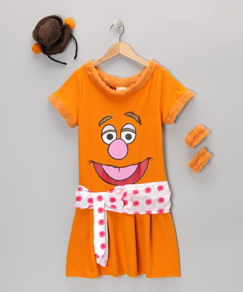 Orange Fozzie Dress-Up Set - Girls